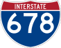 Interstate 678 marker
