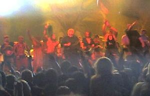 Insane Clown Posse - Insane Clown Posse often brings the entire lineup out to end its elaborate live performances.