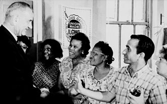 International Ladies' Garment Workers' Union - Lyndon Johnson meets with ILGWU members
