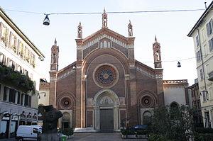 Carlo Maciachini - The facade of Santa Maria del Carmine, Milan (1880)