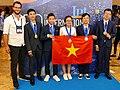 IPhO-2019 07-14 team Vietnam medals.jpg
