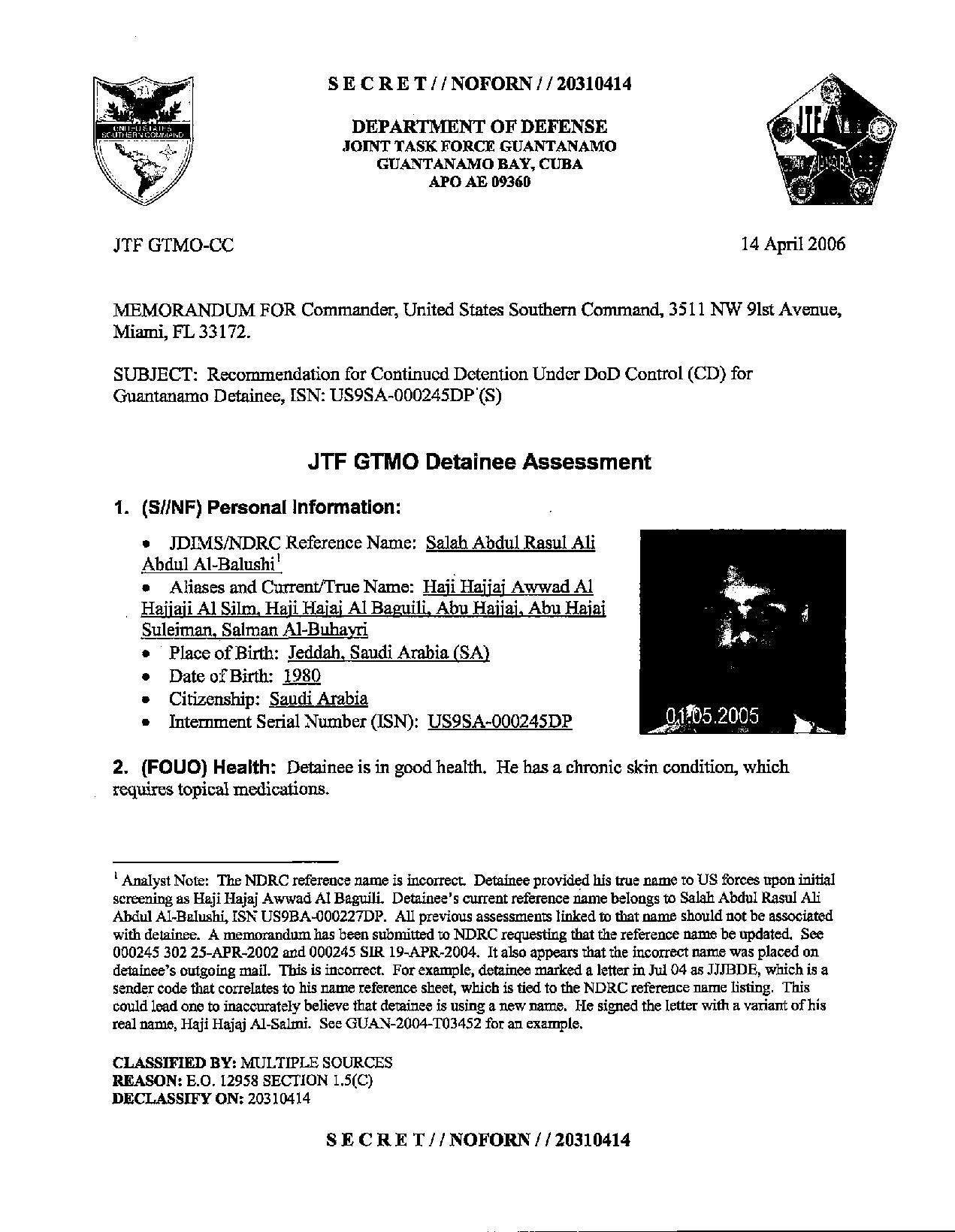 ISN 245's Guantanamo detainee assessment.pdf