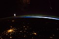 ISS-39 Moscow, Aurora borealis and Moon.jpg