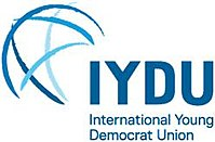 The IYDU logo is a stylised globe criss-crossed with blue lines.