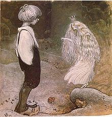 Illustrazione di John Bauer del racconto Seven Wishes