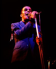 Dury performing at the Roundhouse in 1978