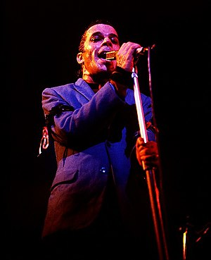 English: Ian Dury at the Roundhouse, Chalk Far...