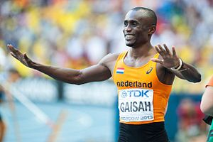 2013 World Championships in Athletics – Men's long jump - Silver medalist Ignisious Gaisah from the Netherlands