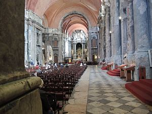 Igreja de São Domingos (Lisbon) - Interior showing fire damage