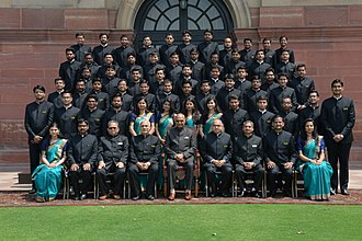 Central Public Works Department - CPWD officers batch with the President of India at the end of Foundation Training