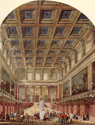Philip Charles Hardwick - Hardwick's impression of the Great Hall at   Euston Station, 1844.