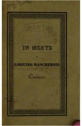 Vincenzo Monti: In morte di Lorenzo Mascheroni