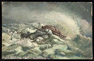"Ice floe - ""In the Arctic Sea - An Ice Floe Adrift"""