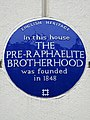 In this house The Pre-Raphaelite Brotherhood was founded in 1848.jpg