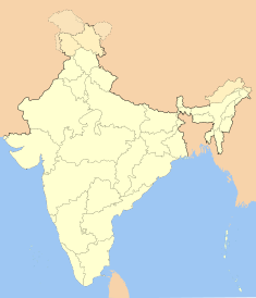 Map indicating the location of Ranchi