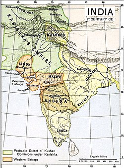 The Satavahana (Andhra) Empire in the 1st century AD