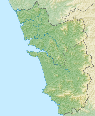 India Goa relief map.png