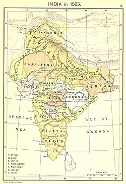 Gujarat Sultanate in 1525