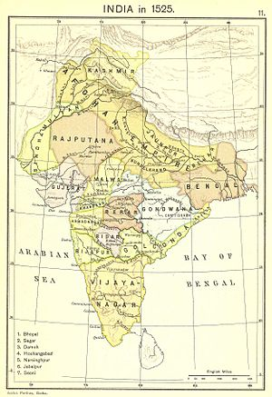 Gujarat Sultanate - Gujarat Sultanate in 1525