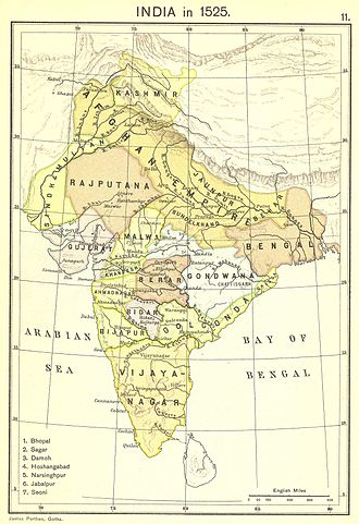 Malwa Sultanate - Malwa Sultanate in the 15th century, with the Gondwana tribes as their tributary.