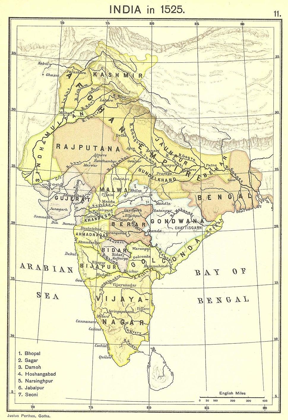 India in 1525 Joppen