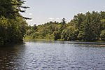 Indian Head River - 03 - Reservoir with boat.jpg
