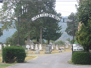 Indian Mound Cemetery - Image: Indian Mound Cemetery Romney WV 2005 09 16 01