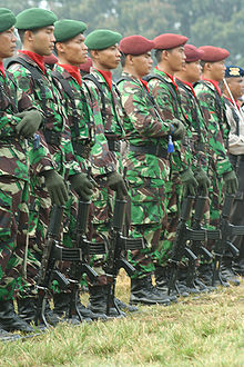 Indonesia Army soldiers