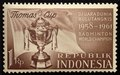 Indonesia postage stamp Badminton-1961.TIF