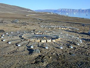 Preparatory Commission for the Comprehensive Nuclear-Test-Ban Treaty Organization - Infrasound arrays at IMS infrasound station IS18, Qaanaaq, Greenland.