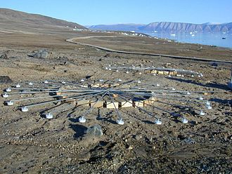 Qaanaaq - The CTBTO micro-barometer array, located about a mile outside of the city