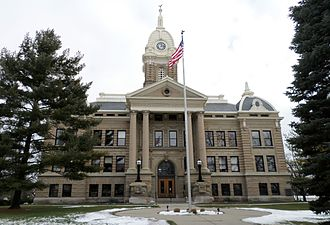 Ingham County Courthouse - The courthouse in January 2016