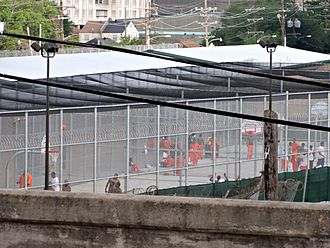 Incarceration in the United States - Inmates in a Orleans Parish Prison yard