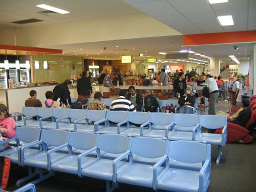 Inside of avalon passenger terminal