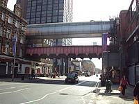 Interconnecting bridges between Waterloo and Waterloo East stations.JPG