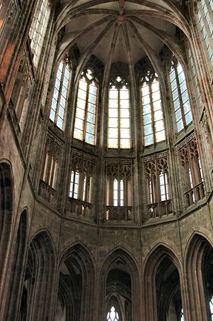 Mont Saint Michel Abbey - Gothic choir of the church-abbey