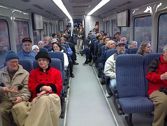WES Commuter Rail - Interior of a WES train