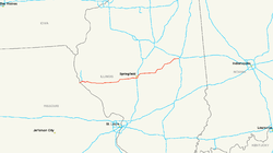 Route of Interstate 72