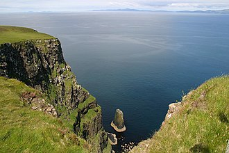 Canna, Scotland - Iorcail from the cliff tops