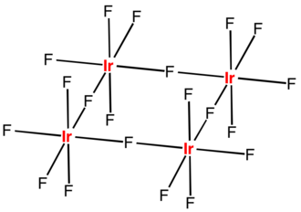 Iridium(V) fluoride - Image: Ir F5tetramer