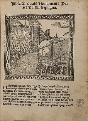 Giuliano Dati - Lettera delle isole nuovamente trovate, 1495