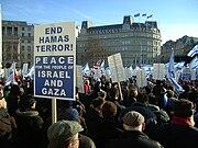 Israel peace rally, London Jan 11 2009 P