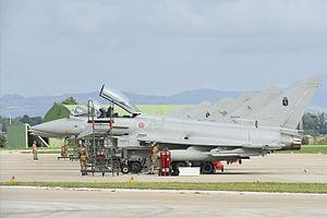Vincenzo Florio Airport Trapani–Birgi - Eurofighter Typhoon of the Aeronautica Militare Italiana in Trapani