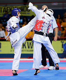 A World Taekwondo Federation sparring match