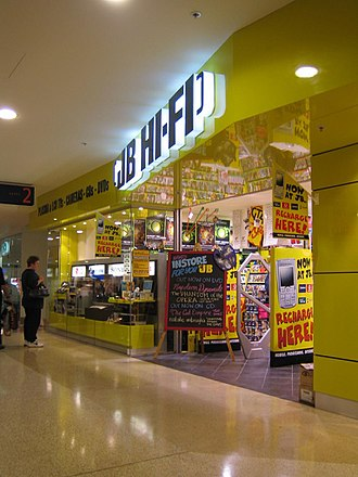 Macquarie Centre - The older level 2 JB Hi-Fi store in Macquarie Centre. JB Hi-Fi has since relocated to level 4.