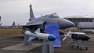 Rudal C-802 yang dipamerkan dalam Farnbourg Air-show 2010