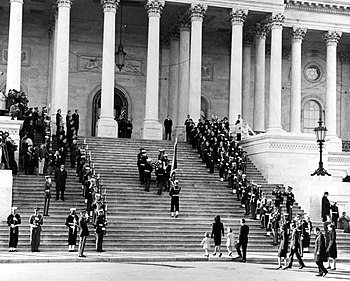 JFK casket up Capitol steps, 1963.jpg