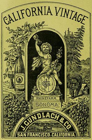 Gundlach Bundschu - Image: J Gundlach California Vintage 1889
