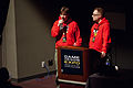 Jaakko Iisalo and Matthew Wilson of Rovio Mobile at Game Design Expo 2011.jpg