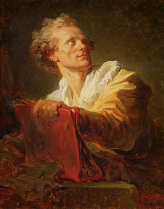 Jacques-André Naigeon - A Portrait of a Young Artist by Jean-Honoré Fragonard, presumed to be of Jacques-André Naigeon